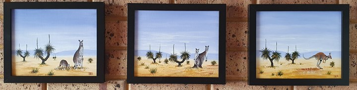 Blackboys and Kangaroo set of 3